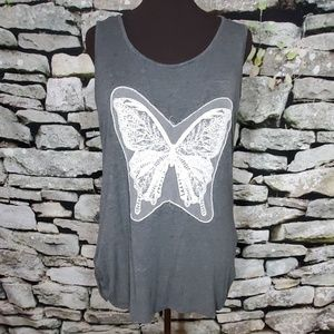 Free Kisses Butterfly Tank Size 2X